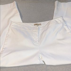 Like new CAbi White cropped jeans size 8